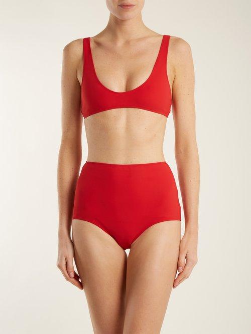 The Emily High-rise bikini bottom by Rochelle Sara