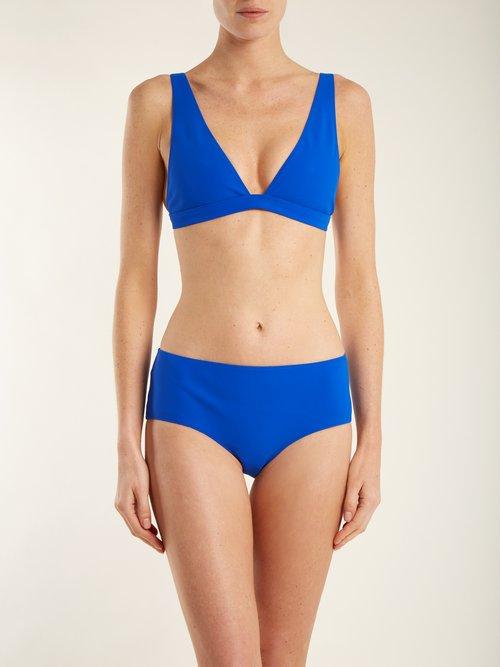 The Enga V-neck bikini top by Rochelle Sara