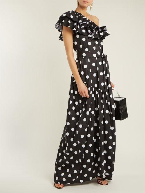Rhea ruffled cotton-blend dress by Caroline Constas