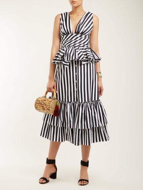 Paros striped cotton top by Caroline Constas