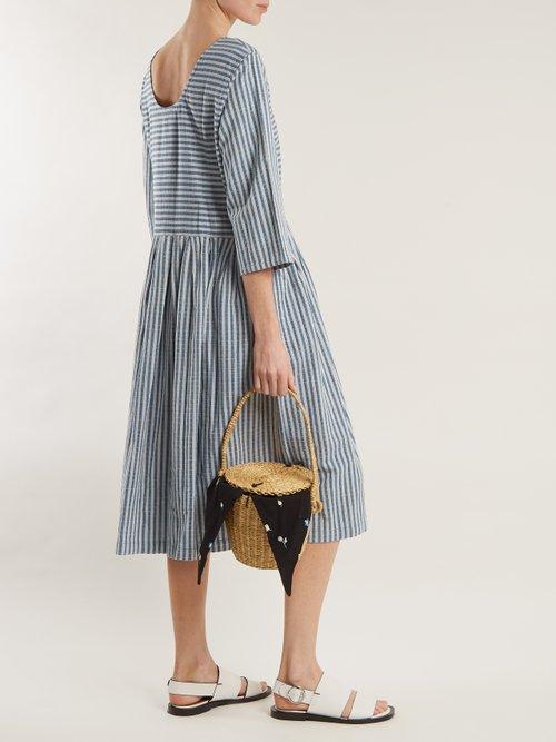 Sage striped cotton dress by Ace & Jig