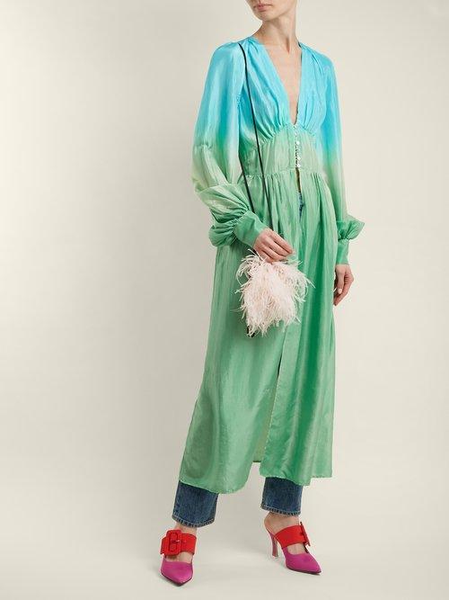 Silk-habotai balloon-sleeved shirtdress by Attico