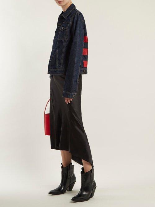 Striped Denim Jacket by Helmut Lang