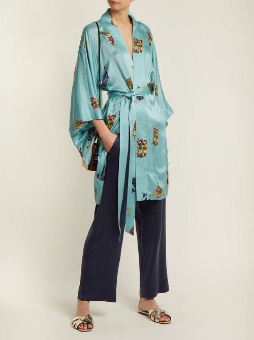 Komodin Silk Kimono Jacket by Chufy