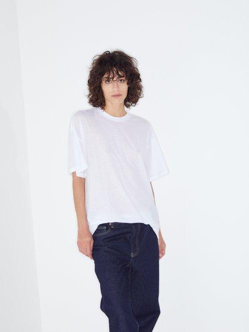 Long-line cotton-jersey T-shirt by Raey