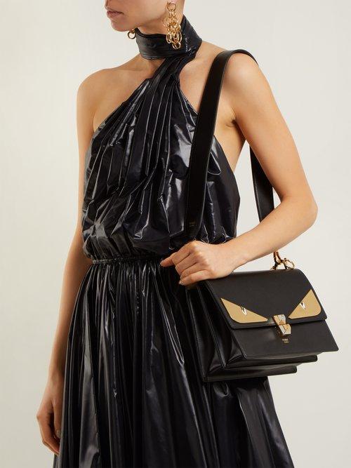 Kan I small leather shoulder bag by Fendi