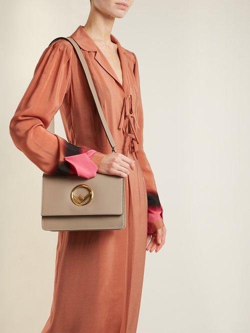 Kan I Logo leather shoulder bag by Fendi