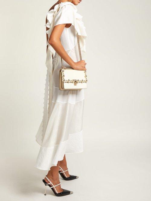 Kan I scallop-edge shoulder bag by Fendi