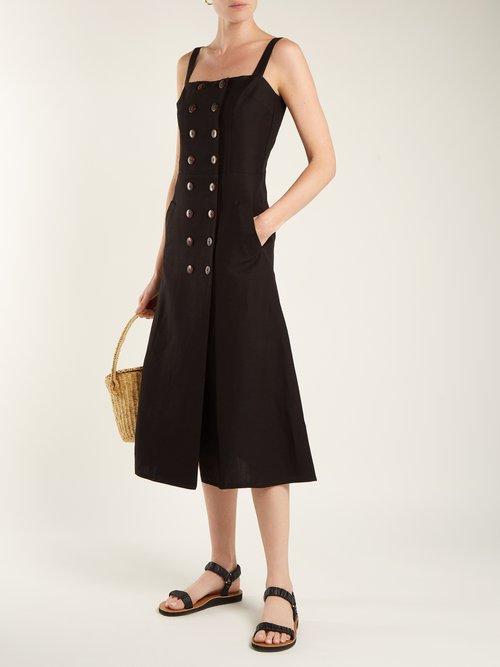 Shop Albus Lumen Monica linen dress online sale