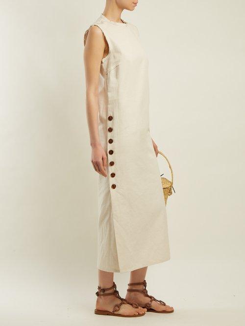 Sole cotton and linen-blend dress by Albus Lumen