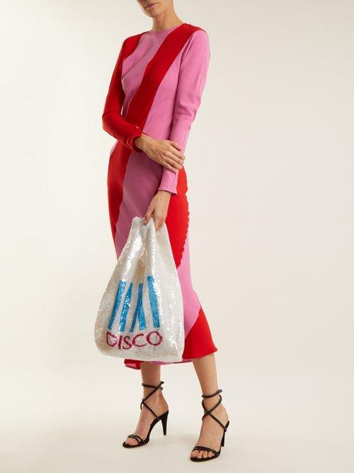 Disco sequin-embellished cotton bag by Ashish