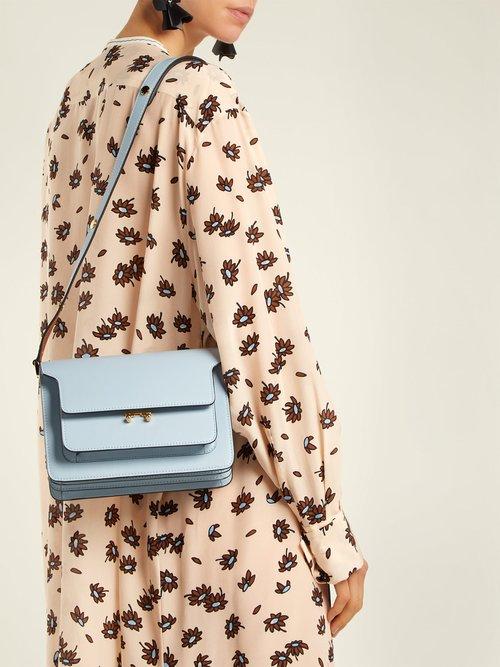 Trunk medium leathers shoulder bag by Marni