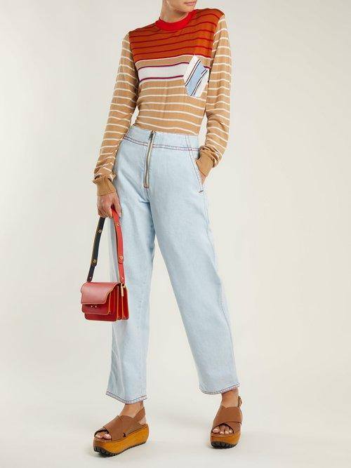 Trunk mini leather cross-body bag by Marni