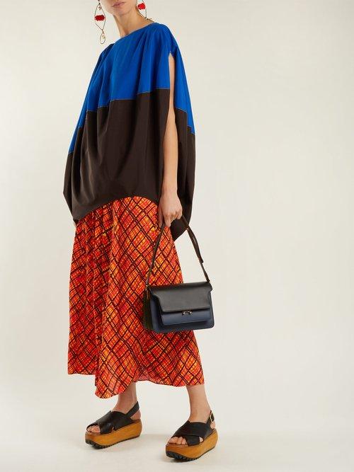 Trunk medium leather shoulder bag by Marni