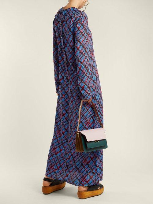 Shop Marni Geometric-print maxi dress online sale