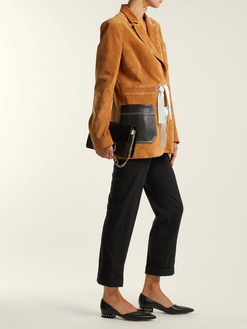 Photo of Suzi embellished-heel leather flats by Nicholas Kirkwood - shop Nicholas Kirkwood footwear online sales