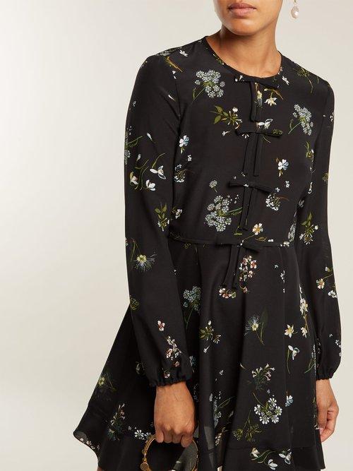 Floral-print silk-chiffon mini dress by Redvalentino