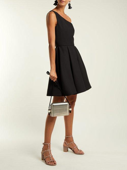 Rockstud block-heel suede sandals by Valentino