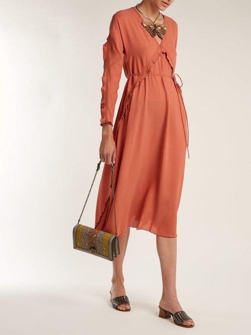 Olimpia Knot Intrecciato leather clutch by Bottega Veneta