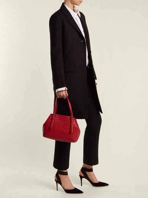 Intrecciato small leather tote by Bottega Veneta