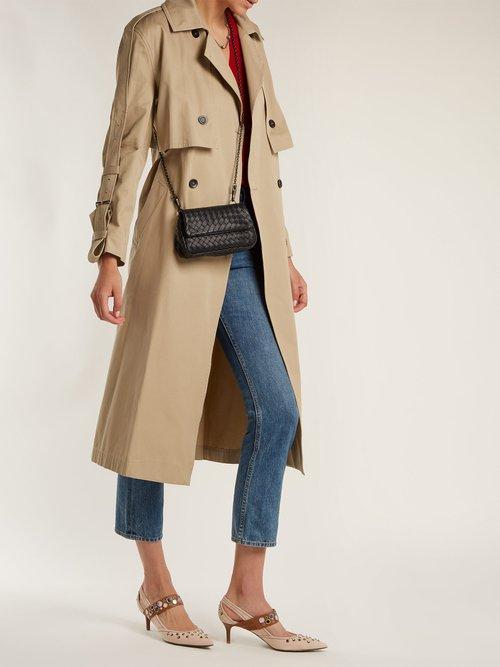 Intrecciato mini leather cross-body bag by Bottega Veneta