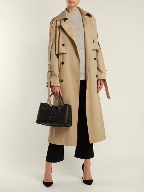 Napoli medium intrecciato leather bag by Bottega Veneta