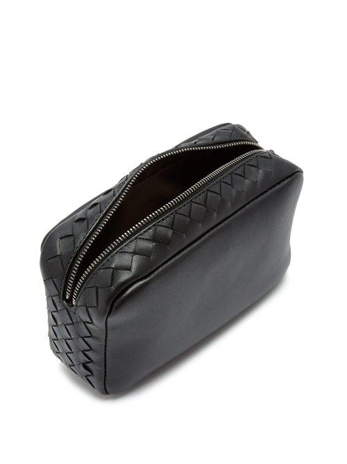 Intrecciato leather make-up bag by Bottega Veneta