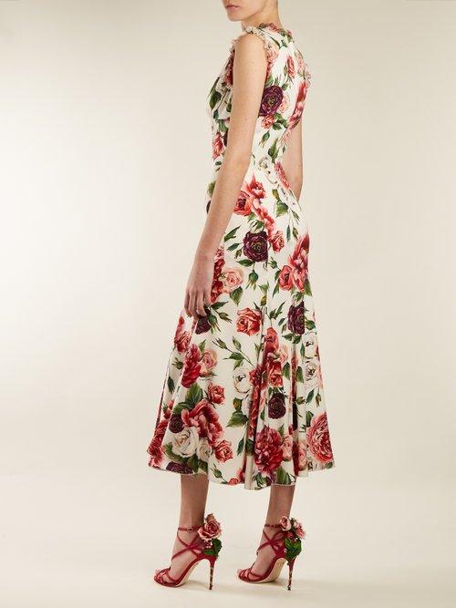 Photo of Keira Rose Applique Satin Stiletto Sandals by Dolce & Gabbana - shop Dolce & Gabbana online sales