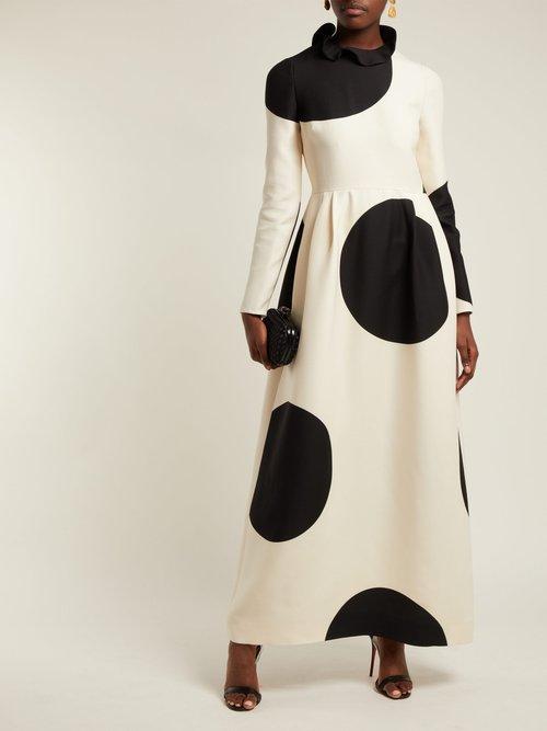 Polka Dot Wool Blend Dress by Valentino