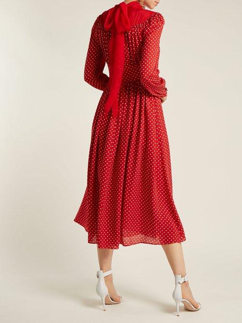 Polka Dot Silk Georgette Gown by Valentino