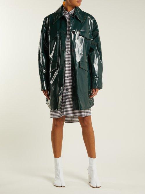 High Shine Coated Cotton Jacket by Mm6 Maison Margiela