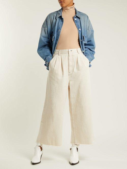 Oversized Denim Shirt Jacket by Mm6 Maison Margiela