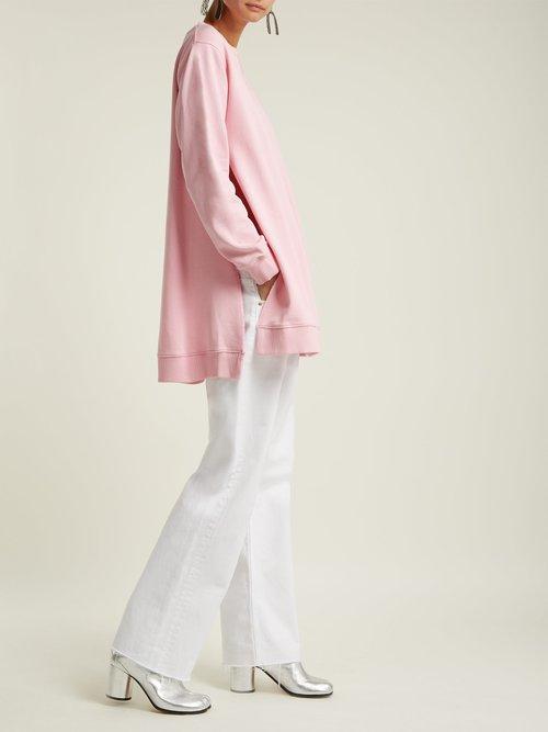 Oversized cotton sweatshirt by Mm6 Maison Margiela