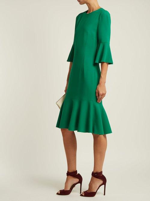 Fluted-hem cady midi-dress by Dolce & Gabbana