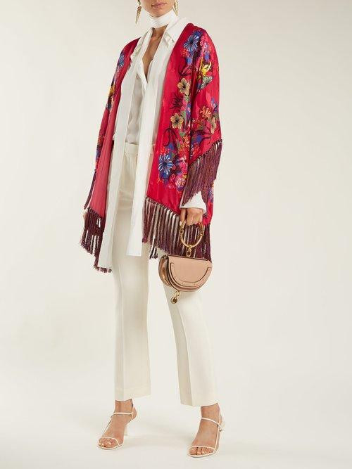 Kesa Floral Print Satin Kimono by Etro