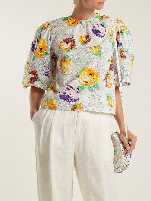 Printed Cotton Poplin Shirt by MSGM