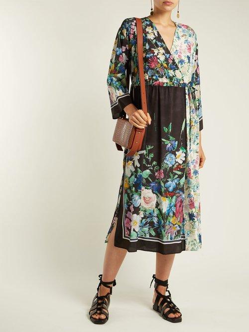 Smalto Floral Print Silk Dress by Weekend Max Mara