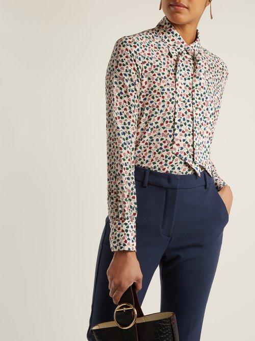Leaf-print silk blouse by Weekend Max Mara