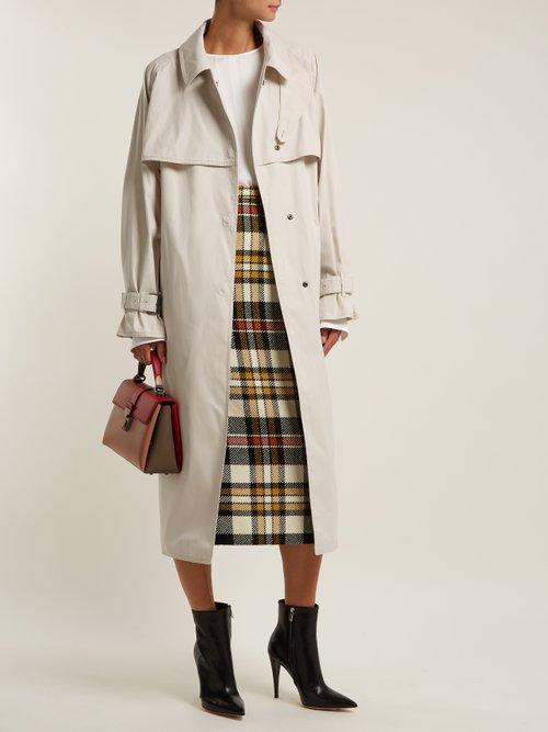 Single Breasted Cotton Blend Trench Coat by Bottega Veneta