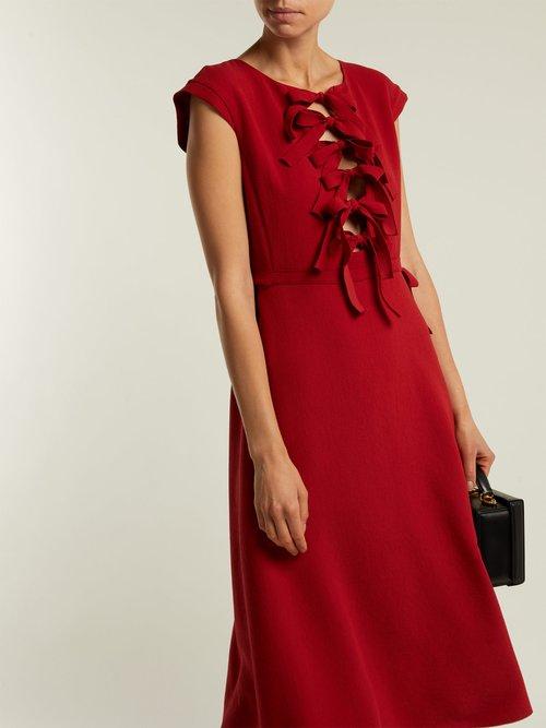 Bow-trimmed shift dress by Bottega Veneta