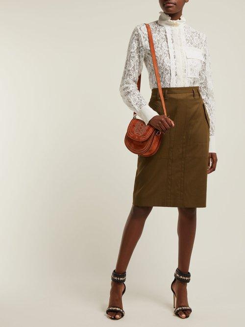 Ghianda mini stud-embellished leather bag by Altuzarra