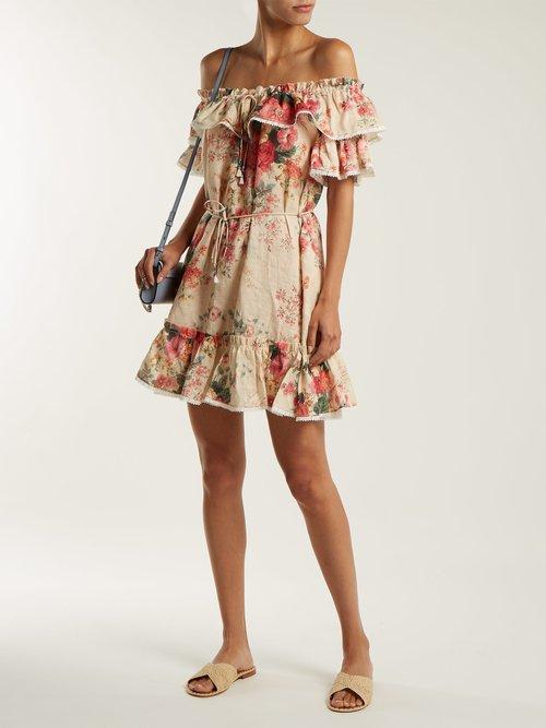 Laelia floral-print linen dress by Zimmermann