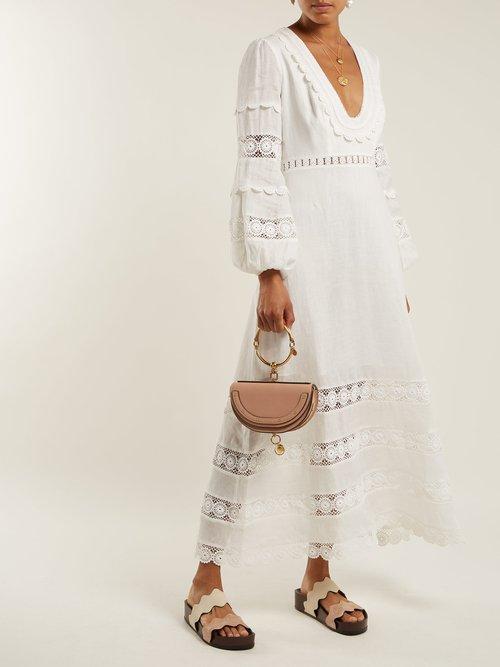 Castile lace-trimmed cotton dress by Zimmermann