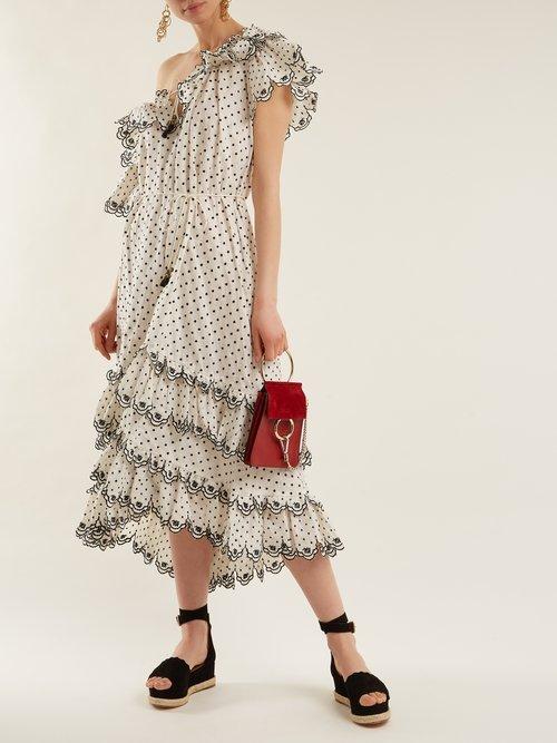 Shop Zimmermann Jaya off-the-shoulder linen dress online sale