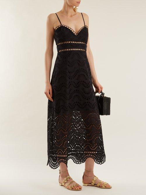 Jaya Wave cotton midi dress by Zimmermann