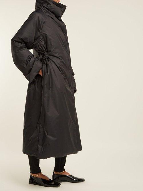 Drawstring Padded Long Coat by Jil Sander