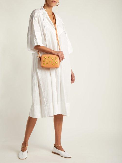 Cammello floral-embellished leather cross-body bag by Mansur Gavriel