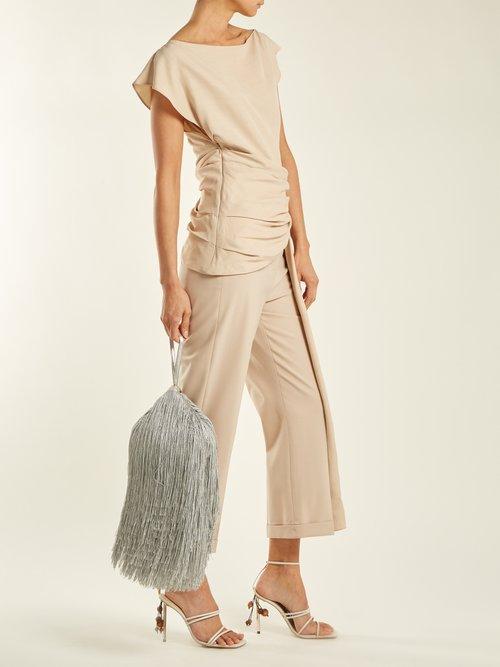 Lantern tassel-embellished bag by Hillier Bartley