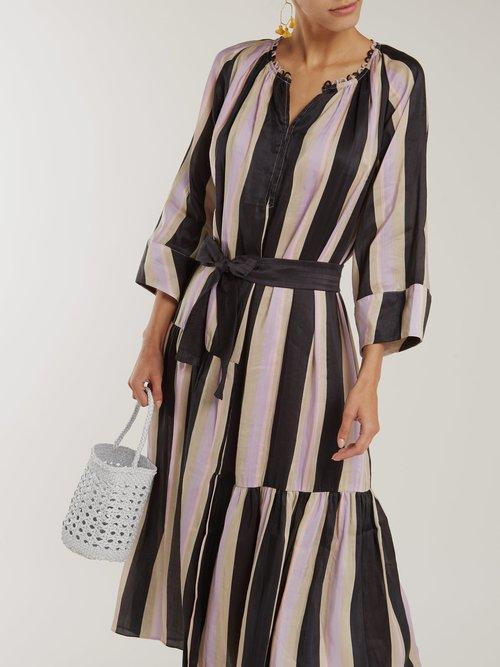 Stella Silk Blend Maxi Shirtdress by Apiece Apart