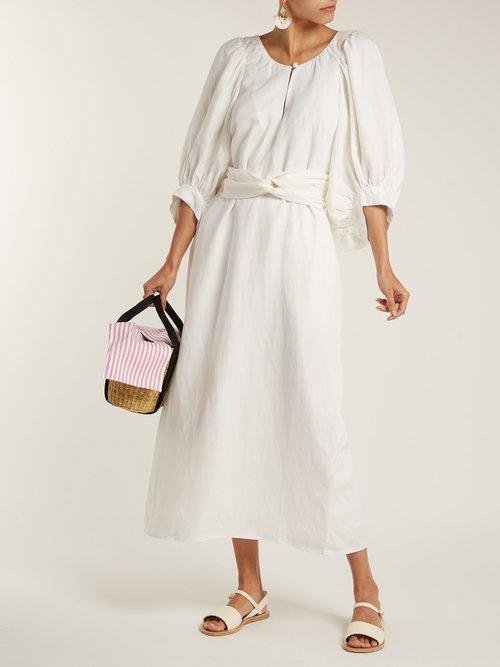 Odesa linen-blend maxi dress by Apiece Apart